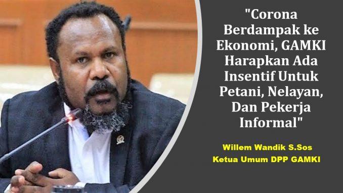 Ketum DPP GAMKI Willem Wandik SSos