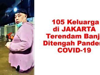 Sebanyak 150 Keluarga di Jakarta Terendam Banjir Ditengah Pandemi Covid-19