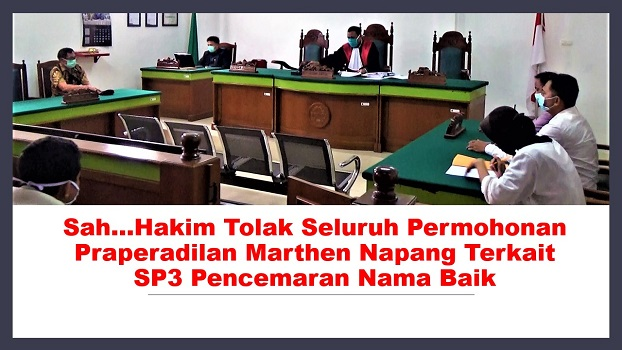 Sah...Hakim Tolak Seluruh Permohonan Praperadilan Marthen Napang Terkait SP3 Pencemaran Nama Baik