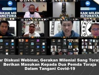 Gelar Diskusi Webinar, Gerakan Milenial Sang Torayaan Berikan Masukan Kepada Dua Pemda Toraja Dalam Tangani Covid-19
