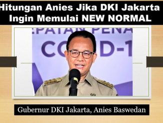 Hitungan Anies Jika DKI Jakarta Ingin Memulai NEW NORMAL