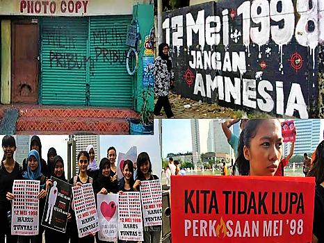 GERAK Perempuan Tuntut Penuntasan Pelanggaran HAM dan Perkosaan Massal Mei 1998