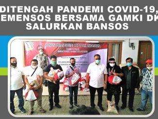 Ditengah Pandemi Covid-19, Kemensos Bersama DPD GAMKI DKI Jakarta Salurkan Bansos