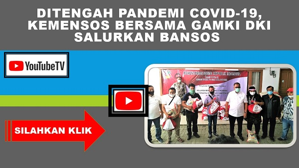 Ditengah Pandemi Covid-19, Kemensos Bersama DPD GAMKI DKI Jakarta Salurkan Bansos Presiden
