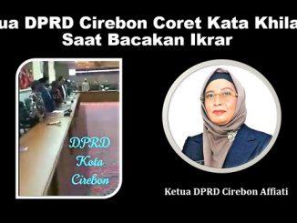 Ketua DPRD Cirebon Coret Kata Khilafah Saat Bacakan Ikrar