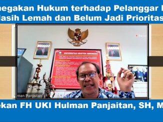 Dekan FH UKI Hulman Panjaitan: Penegakan Hukum terhadap Pelanggar HKI Masih Lemah dan Belum Jadi Prioritas