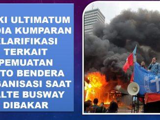 GMKI Ultimatum Media Kumparan Klarifikasi Terkait Pemuatan Foto Bendera Organisasi Saat Halte Busway Dibakar