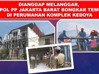 Dianggap Melanggar, Satpol PP Jakarta Barat Bongkar Tembok di Perumahan Komplek Kedoya